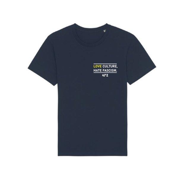 "T-Shirt ""Love Culture, Hate Fascism."""